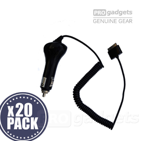 PRO gadgets 700 mAh 5V-12V Car Charger Adapter for Apple iPhone 3/4 iPod -20PACK - CarCharger_ip4_20