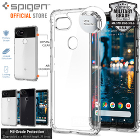 Google Pixel 2 XL Case,Genuine SPIGEN Crystal Shell Bumper Hard Cover for Google