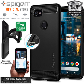 Google Pixel 2 XL Case, Genuine SPIGEN Rugged Armor Resilient Tough Soft Cover