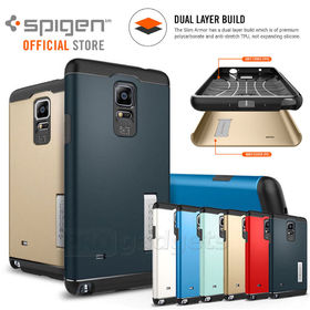 Spigen Slim Armor Case with Stand for Samsung Galaxy Note 4 Unpackaged