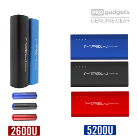 Genuine MIPOW Power Tube 2600U/5200U Universal Portable Battery Charger