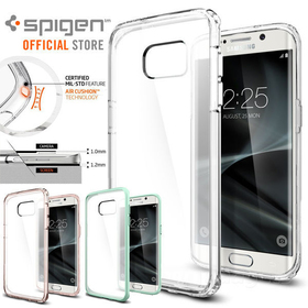 Galaxy S7 Edge Case,Genuine SPIGEN Ultra Hybrid SOFT Bumper Cover for Samsung