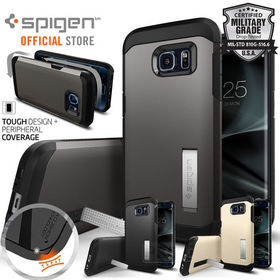 Galaxy S7 Edge Case,Genuine SPIGEN HEAVY DUTY TOUGH Armor Cover for Samsung