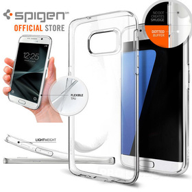 Galaxy S7 Edge Case, Genuine SPIGEN Liquid Crystal Soft COVER for Samsung