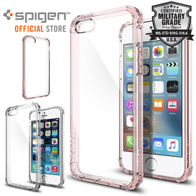 iPhone SE/5S/5 Case, Genuine SPIGEN Crystal Shell Engineered Bumper Cover for Apple