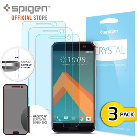 HTC 10 Screen Protector, Genuine SPIGEN LCD Film Crystal CR for HTC
