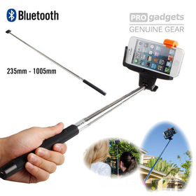 Bluetooth Selfie Stick, BUILT-IN Shutter Remote w Extendable Monopod for iPhone/Galaxy