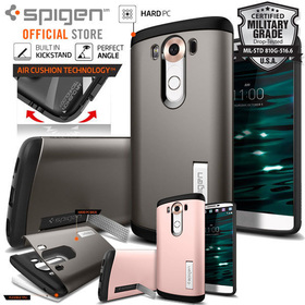 LG V10 Case, Genuine Spigen Slim Armor Heavy Duty Protective Cover for LG