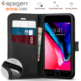 iPhone 7 Case, Genuine SPIGEN STAND Flip View Wallet S Cover Unpackaged for Apple