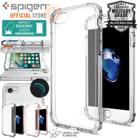 iPhone 7 Case, Genuine SPIGEN CRYSTAL SHELL BUMPER Hard Cover for Apple