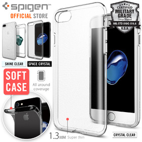 iPhone 7 Plus Case, Genuine SPIGEN Liquid Crystal Exact Fit Soft Cover for Apple