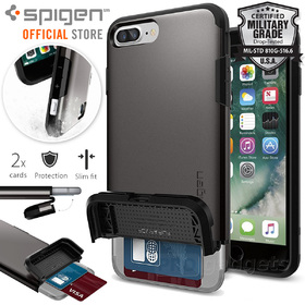 iPhone 7 Case, Genuine SPIGEN Flip Armor Card Holder Cover for Apple