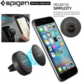 Car Mount Cradle Holder, Genuine Spigen Air Vent Magnetic for iPhone / Galaxy -  SGP11583