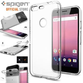 Google Pixel Case, Genuine SPIGEN Liquid Crystal Slim Soft Cover for Google