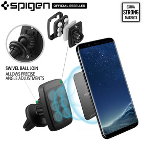 Car Mount Cradle Holder, Genuine Spigen A201 Air Vent Magnetic for iPhone/Galaxy