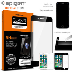 iPhone 8 / 7 Screen Protector, Genuine Spigen Full Cover Tempered Glass For Apple