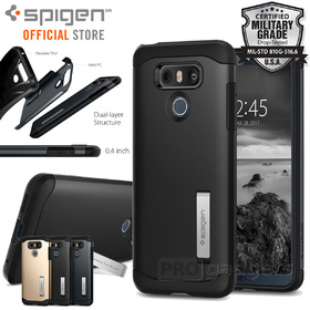 LG G6 Case, Genuine SPIGEN Slim Armor HEAVY DUTY KICK-STAND Cover for LG