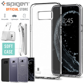 Galaxy S8 case, Genuine SPIGEN Ultra Slim Liquid Crystal Soft Cover for Samsung