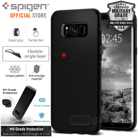 Galaxy S8 Case, Genuine SPIGEN Soft TPU Liquid Air Armor Slim Cover for Samsung