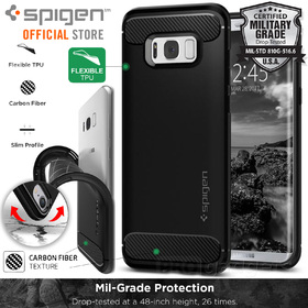 Galaxy S8 Plus Case, Genuine SPIGEN Rugged Armor Resilient Soft Cover Samsung