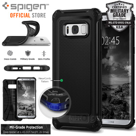 Galaxy S8 Plus Case, Genuine SPIGEN Rugged Armor Extra Air Cushion Cover