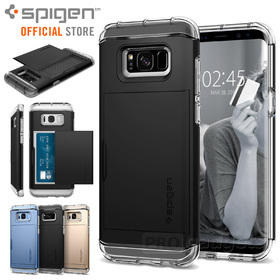 Galaxy S8 Plus case, Genuine SPIGEN Crystal Wallet Card Slot Dual Cover