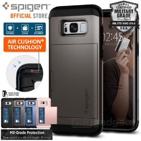 Galaxy S8 Case, Genuine SPIGEN Slim Armor CS Card Slider Holder for Samsung