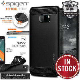 HTC U Ultra Case, Genuine SPIGEN Rugged Armor Resilient Soft Cover for HTC