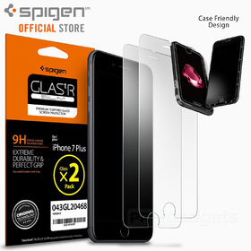 iPhone 7 Plus Screen Protector, Genuine SPIGEN GLAS.tR Slim Tempered Glass 2PCS