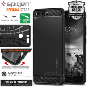 Huawei P10 Case, Genuine SPIGEN Rugged Armor Resilient Soft Cover for Huawei