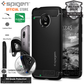 Moto G5 Case, Genuine SPIGEN Rugged Armor Resilient Soft Cover for Motorola