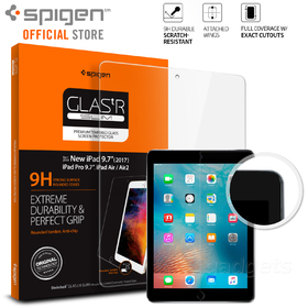 iPad Pro 9.7 Screen Protector, Genuine SPIGEN GLAS.tR 9H SLIM Tempered Glass