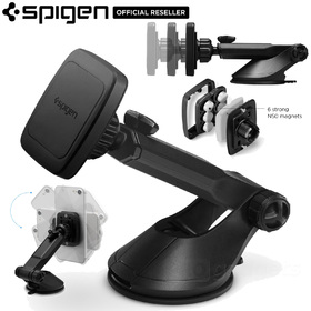 Car Mount Magnetic Holder, Genuine SPIGEN Kuel H35 for Universal/iPhone/Galaxy