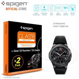 Gear S3 Screen Protector, Genuine SPIGEN GLAS.tR Slim Tempered Glass 2PCS/PACK