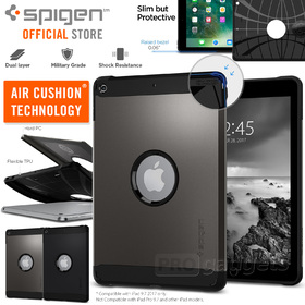 iPad 9.7 2017 Case, Genuine SPIGEN Heavy Duty Tough Armor Hard Cover for Apple