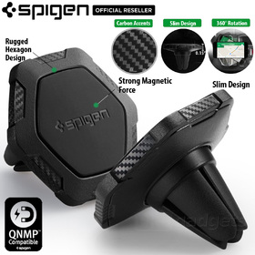 Car Mount Holder, Genuine SPIGEN Kuel QS11 Air Vent Magnetic for iPhone/Galaxy