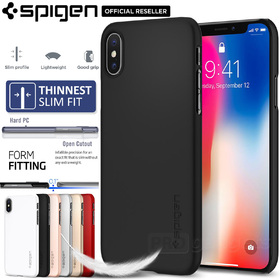 iPhone X Edition Case, Genuine SPIGEN Ultra Thin Fit Slim Hard Cover for Apple