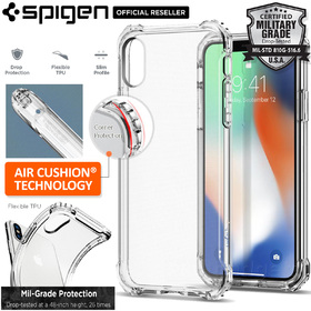 iPhone X Edition Case, Genuine SPIGEN Rugged Crystal Slim SOFT Cover for Apple