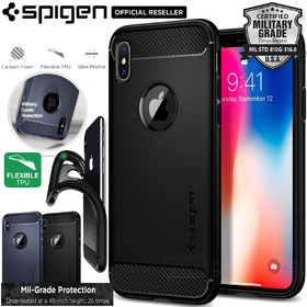 iPhone X Edition Case, Genuine SPIGEN Rugged Armor SLIM Soft Cover for Apple