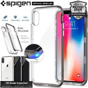 iPhone X Edition Case, Genuine SPIGEN Neo Hybrid Crystal Bumper Cover for Apple