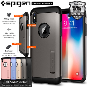iPhone X Edition Case, Genuine SPIGEN Slim Armor Heavy Duty Cover for Apple
