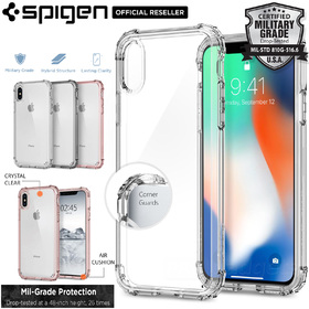 iPhone X Edition Case, Genuine SPIGEN Crystal Shell Bumper Hard Cover for Apple