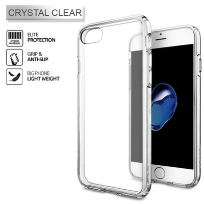 iPhone 7 Case, Genuine SPIGEN Ultra Hybrid AIR CUSHION BUMPER Cover for Apple [Colour: Crystal Clear] - 042CS20443