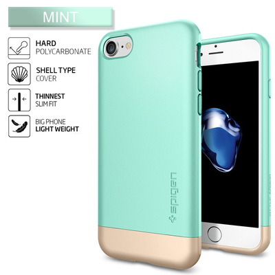 iPhone 7 Case, Genuine SPIGEN Style Armor Trendy Slim Hard Cover for Apple [Colour:Mint]