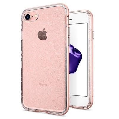 iPhone 7 Case, Genuine SPIGEN Neo Hybrid Crystal Glitter Bumper Cover for Apple [Colour: Rose Gold]