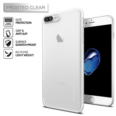 iPhone 7 Plus SPIGEN Air Skin + FREE Glass Screen Protector [Colour: Soft Clear]