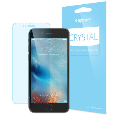 iPhone 7 Plus Screen Protector, Genuine Spigen Full HD 3 PK Crystal CR for Apple [Colour: Crystal Clear]  - 043FL20465
