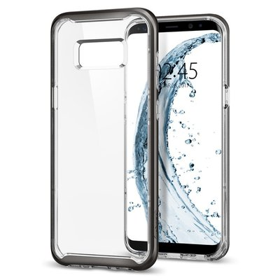 Galaxy S8 case, Genuine SPIGEN Dual Layer Neo Hybrid Crystal Bumper Cover for Samsung [Colour: Gunmetal]