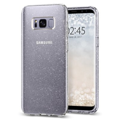 Galaxy S8 Case, Genuine SPIGEN Slim Liquid Crystal Glitter Soft Cover Samsung [Colour: Crystal Quartz]