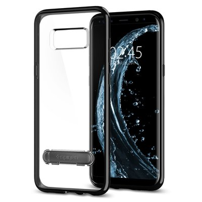Galaxy S8 case, Genuine SPIGEN  Ultra Hybrid S Metal Kick-stand Cover Samsung [Colour: Midnight Black / Jet Black]